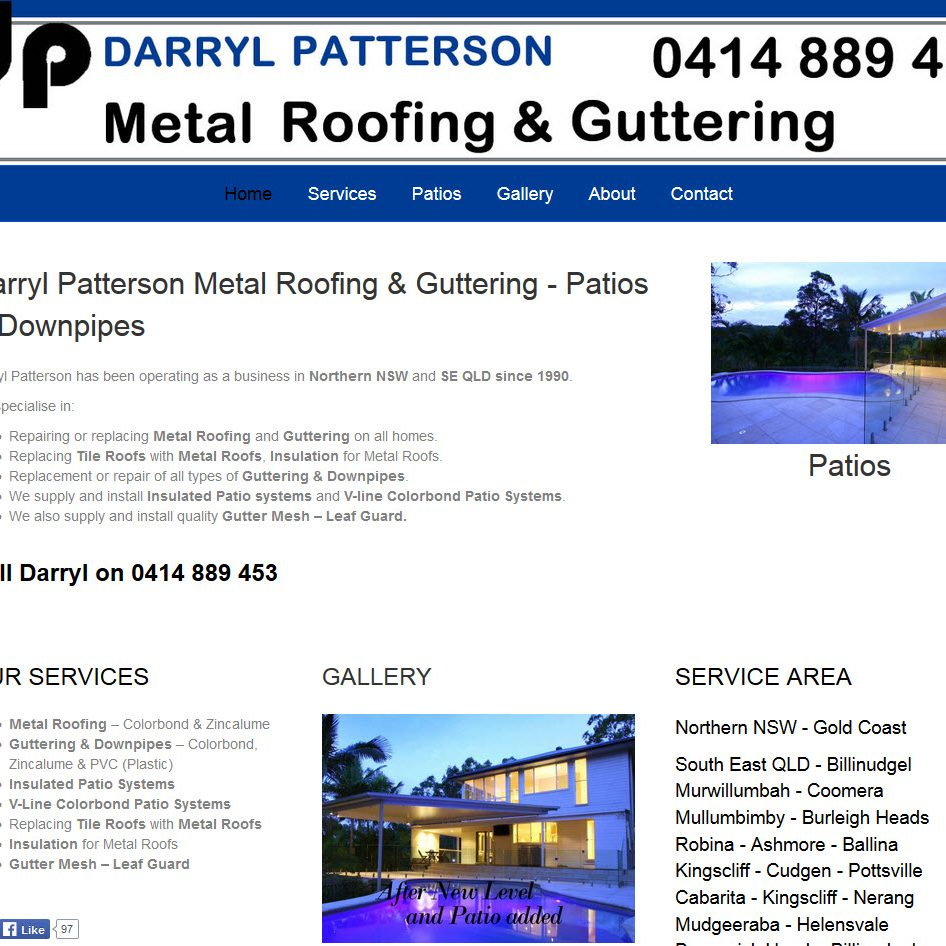 Darryl Patterson Roofing and Guttering by Spyda Web Hosting