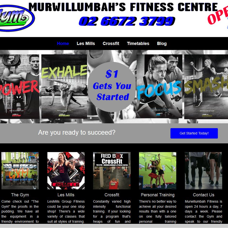 Murwillumbah Fitness Website by Spyda Web Hosting